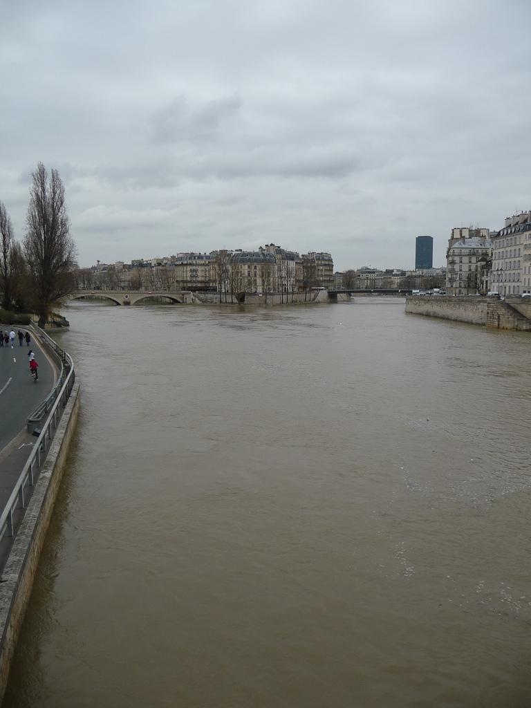 La Seine en crue dans Paris