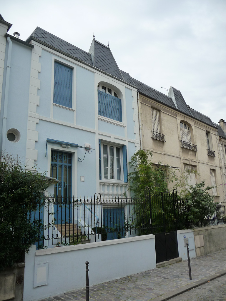 Maisons de ville de la rue Dieulafoy, Paris 13e (75)
