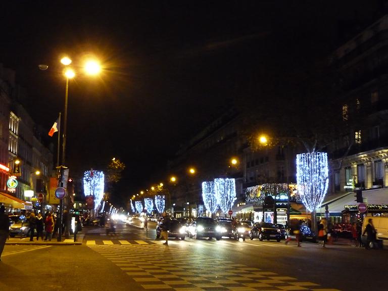 Illuminations du boulevard Saint-Germain, Paris 6e (75)