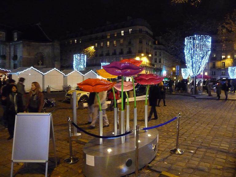 Speaker Mouths (LLND), place Saint-Germain, Paris 6e (75)