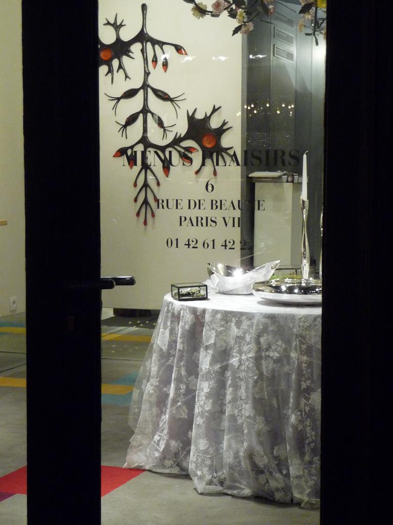 Galerie Menus Plaisirs, Paris 7e (75), 10 décembre 2011, photo Alain Delavie