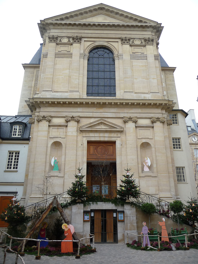 Décorations de Noël, Missions Étrangères de Paris, Paris 7e (75)