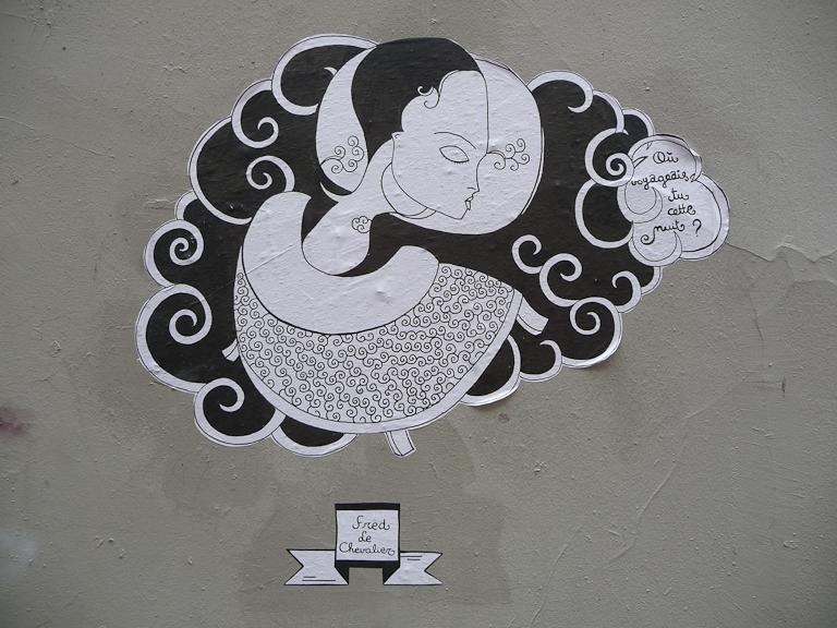 Collage de Fred Le Chevalier, rue André Antoine, Paris 18e (75)