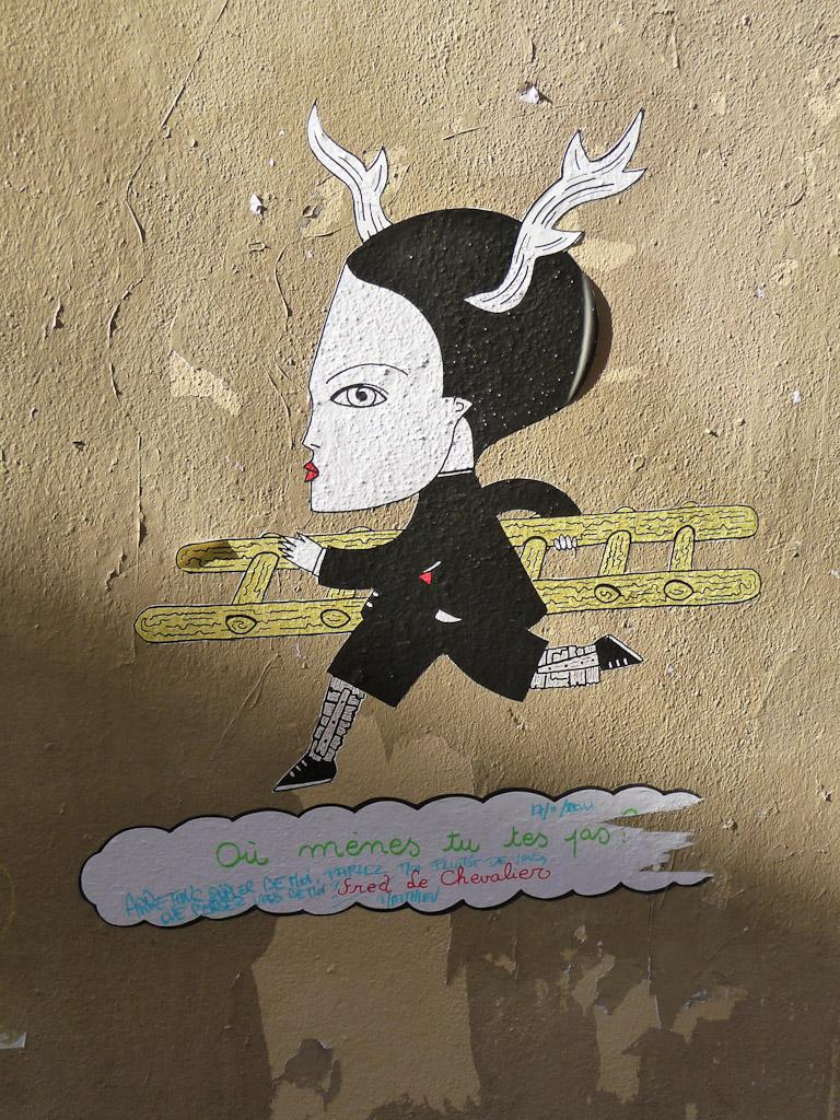 Collage de Fred Le Chevalier dans Montmartre, Paris 18e (75)
