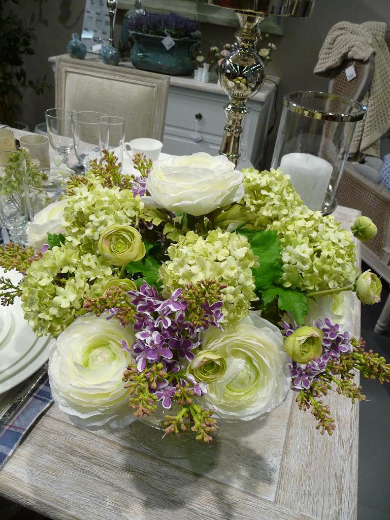 Bouquet de fleurs artificielles, SIA Home Fashion, salon Maison & Objet 2012, Parc des Expositions Paris Nord Villepinte