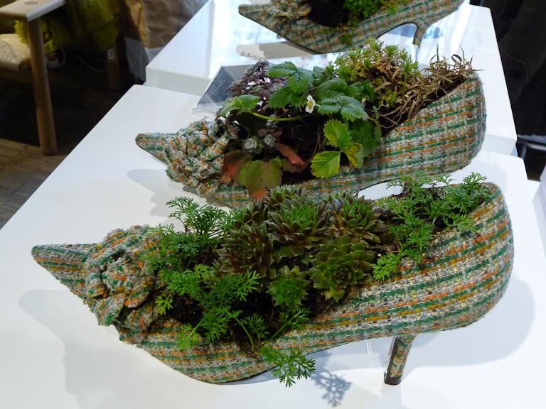 "Escarpins plantés, ""Jardins perchés"", chez Gambs, Paris 11e (75)"