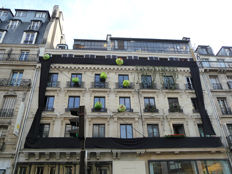 Fresque végétale d'Ikebanart au 59 Rivoli, 59 rue de Rivoli, Paris 1er (75)