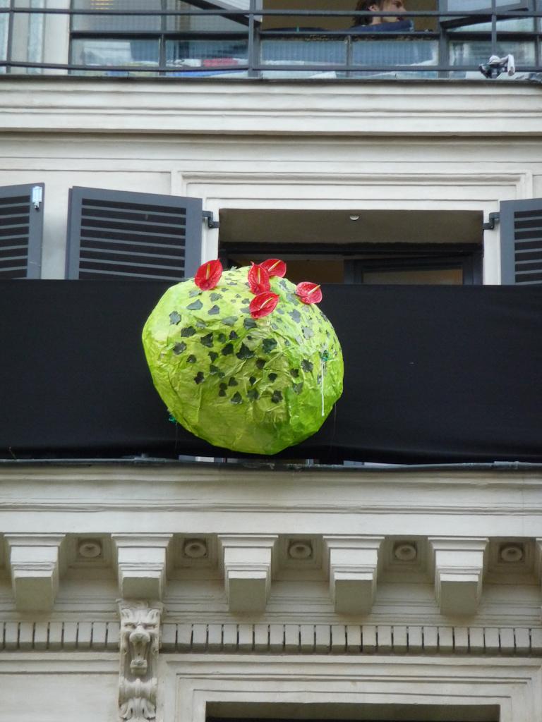 Détail de la fresque végétale d'Ikebanart au 59 Rivoli, 59 rue de Rivoli, Paris 1er (75)