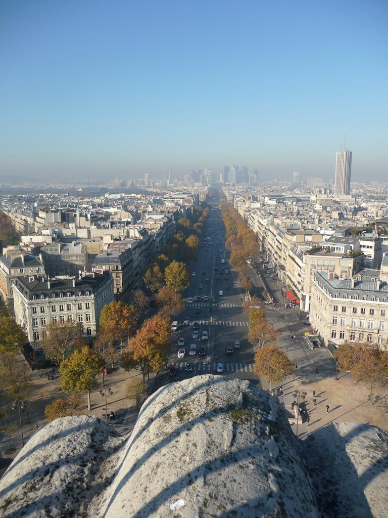La Défense et Paris vu depuis l'Arc de Triomphe