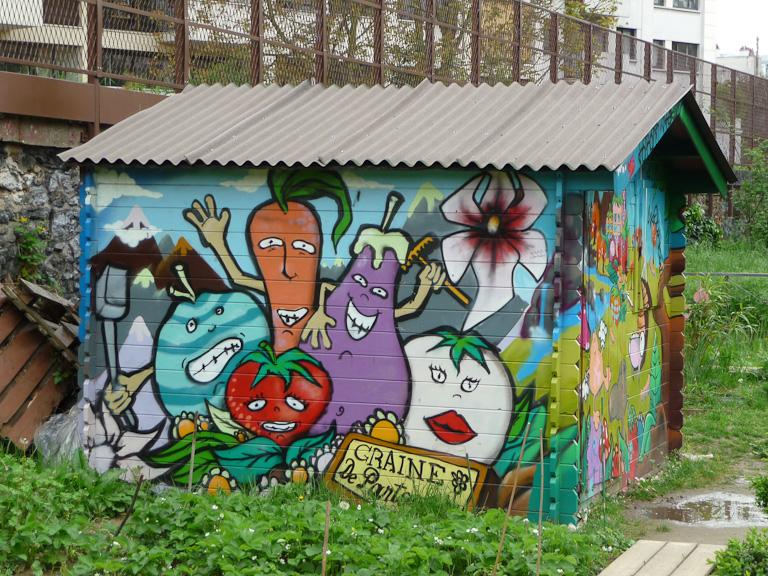 Abri de jardin du jardin partagé Bel Air, Paris 12e (75)