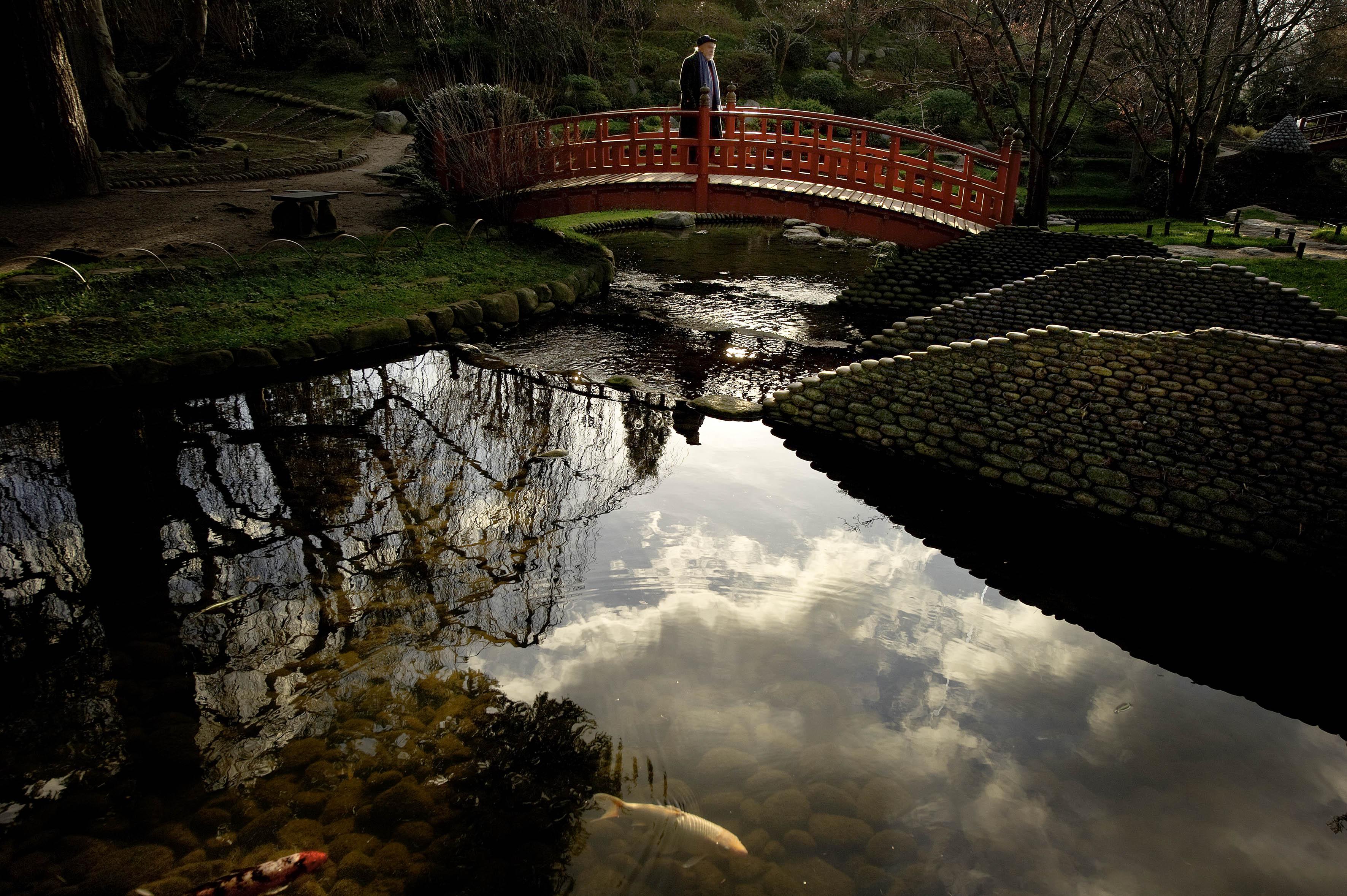 Le pont des Âmes, Jardin Albert-Kahn, Boulogne-Billancourt (Hauts-de-Seine). Photo Jean-Luc Dolmaire
