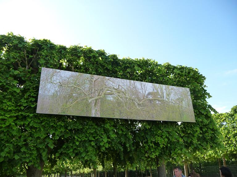 Exposition Lever de rideau, Lire au jardin 2012, jardin du Grand Trianon, Domaine de Versailles