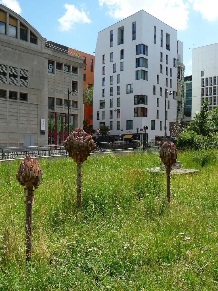 Les hôtels à insectes des Jardins Abbé Pierre - Grands Moulins, Paris 13e (75)