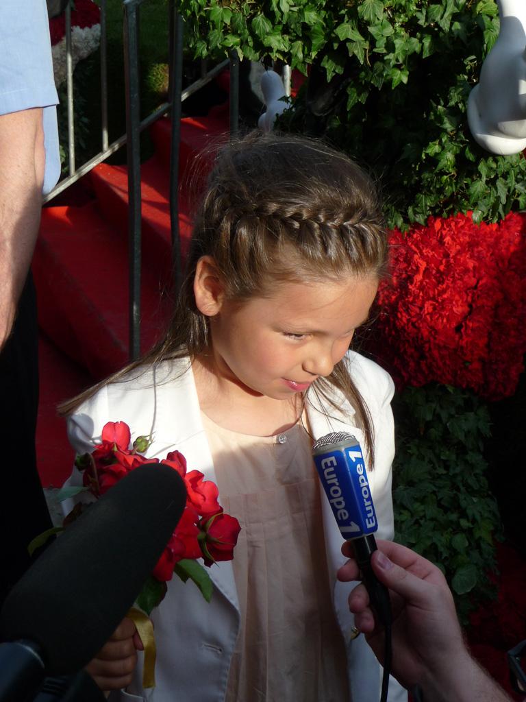 Lily Rose Chabal, baptême de la rose Princesse Disney, Jardins Jardin 2012, Jardin des Tuileries, Paris 1er (75)