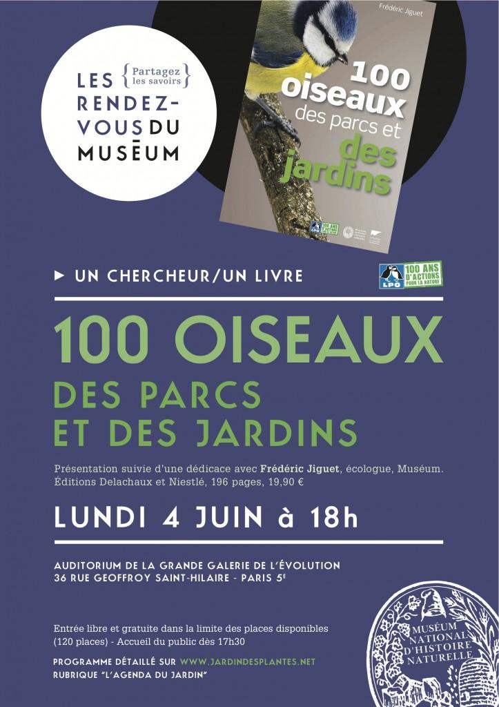 Un chercheur, un livre au Muséum National d'Histoire Naturelle / 100 oiseaux des parcs et des jardins