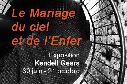 Le mariage du ciel et de l'enfer, exposition Kendell Geers, Blandy Art Tour(s)