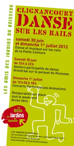 Dans et musique sur les rails de la Petite Ceinture samedi 30 juin et dimanche 1er juillet 2012
