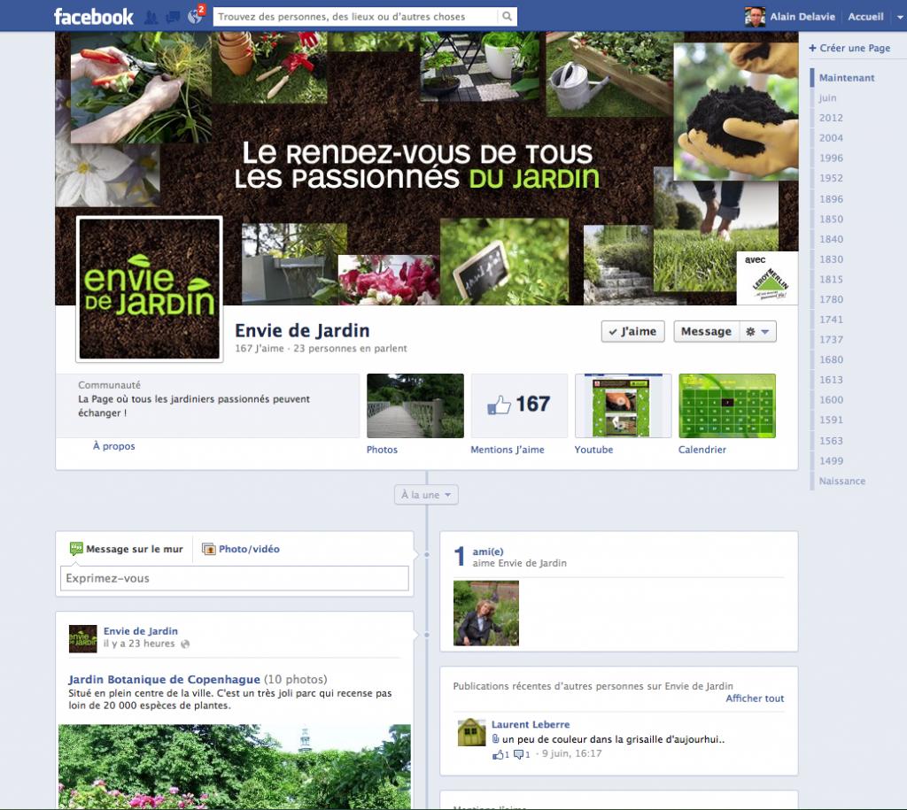 Page Facebook Envie de Jardin