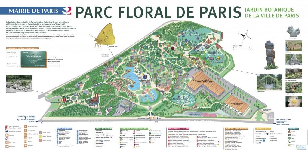 Plan du Parc Floral de Paris