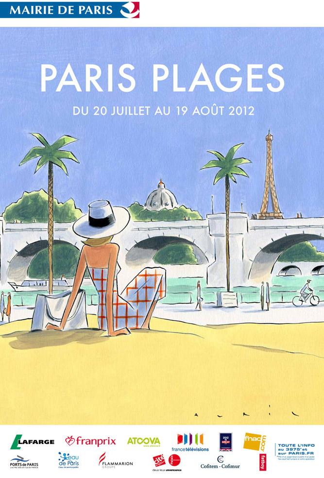 Affiche Paris plage 2012