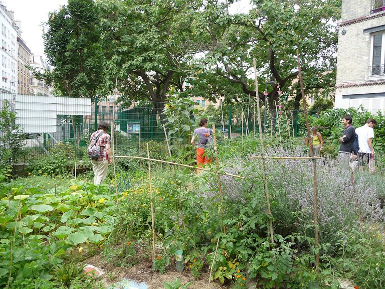 Jardins des Petits Passages, rue Petit, Paris 19e (75)