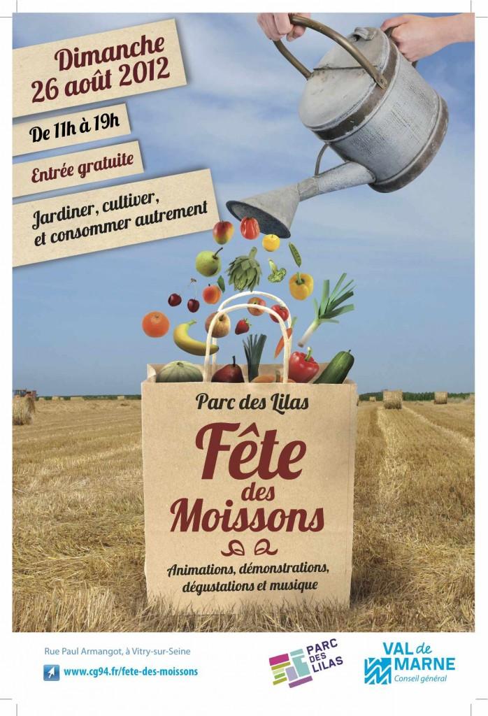 Affiche de la Fête des Moissons, parc départemental des Lilas