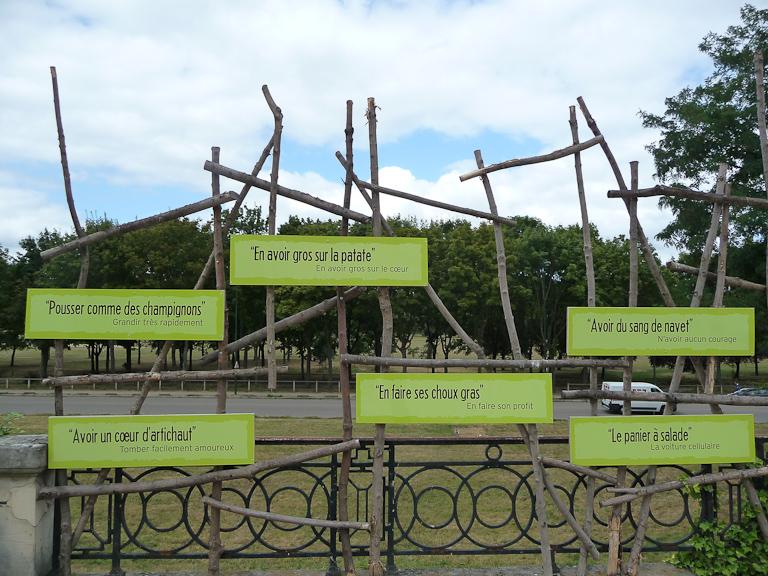 """Exposition """"Savez-vous planter les choux ?"""", parc de Bagatelle"""