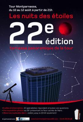 22e édition de la Nuit des Étoiles à la Tour Montparnasse, Paris 15e (75)