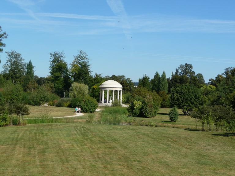 Temple de l'Amour dans le Jardin anglais du Petit Trianon, Domaine de Versailles, Yvelines