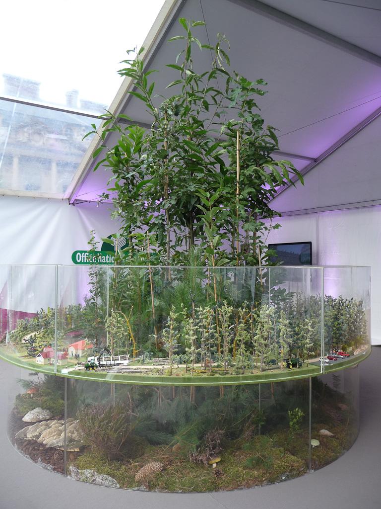 """Maquette (ONF), exposition """"Bois & Forêt le choix nature !"""", place du Palais Royal, Paris 1er (75)"""