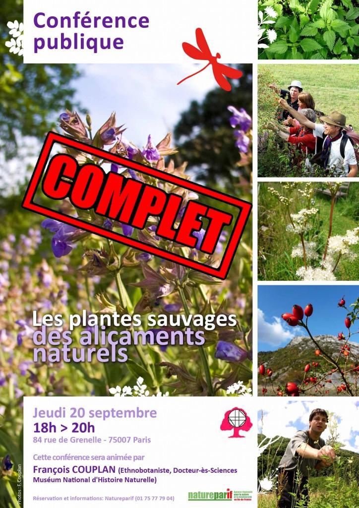 """Conférence publique """"Les plantes sauvages, des alicaments naturels"""""""