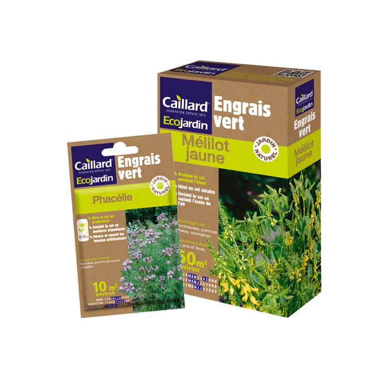 Boites de semences de mélilot et de phacélie, engrais verts, Caillard