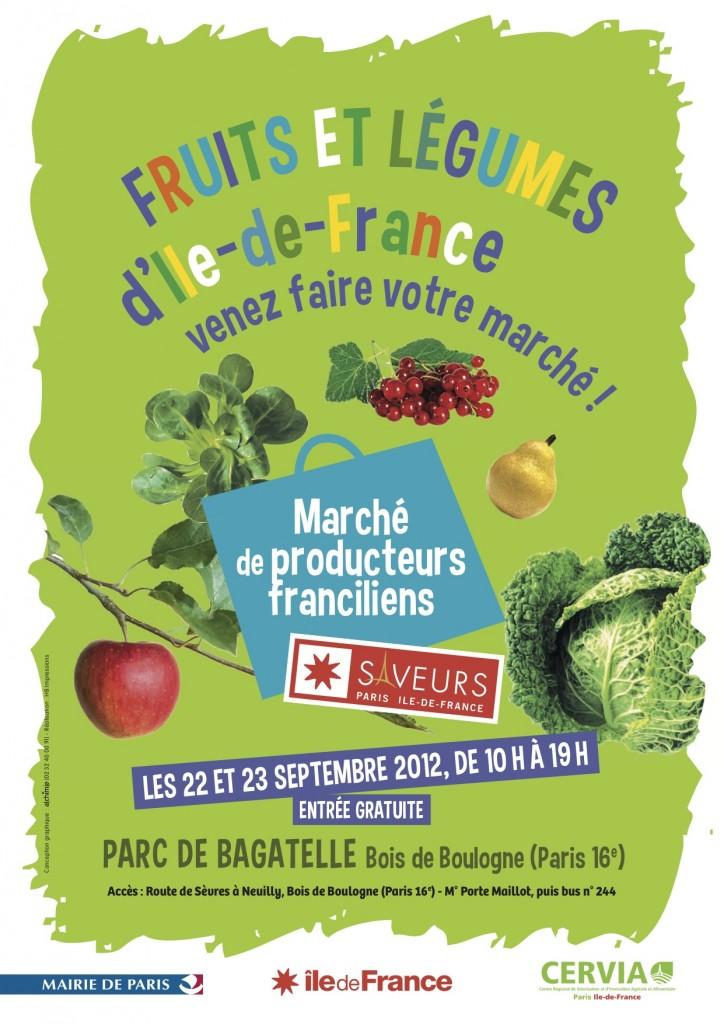 Fruits et légumes d'Île-de-France, parc de Bagatelle, Paris 16e (75)
