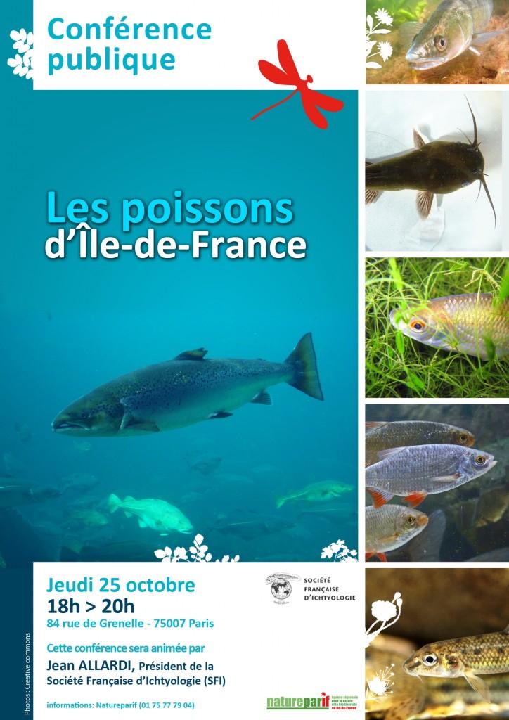 """Affiche de la conférence """"Les poissons d'Île-de-France"""""""