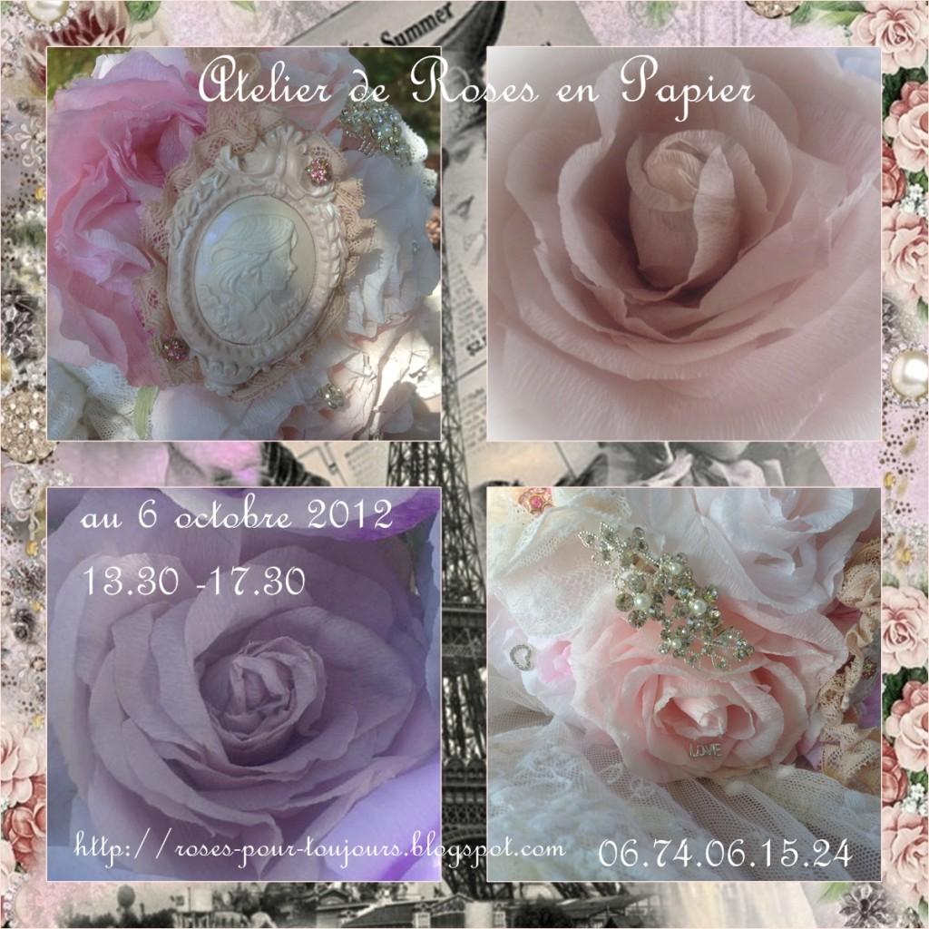 Atelier de roses en papier le 6 octobre 2012 à Paris
