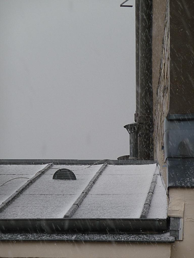 Orage avec chute de grêle, Paris 19e (75)