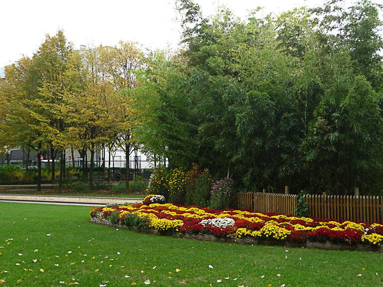Jardin Rachmaninov en automne, Paris 18e (75)