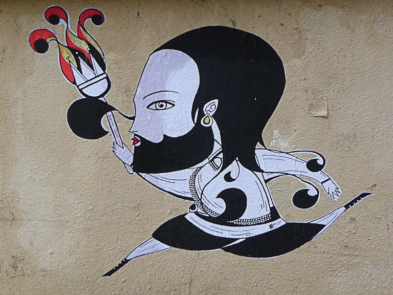 Collage de Fred le Chevalier à Montmartre, Paris 18e (75)