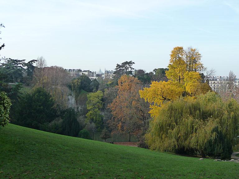 Parc des Buttes-Chaumont en automne, Paris 19e (75)