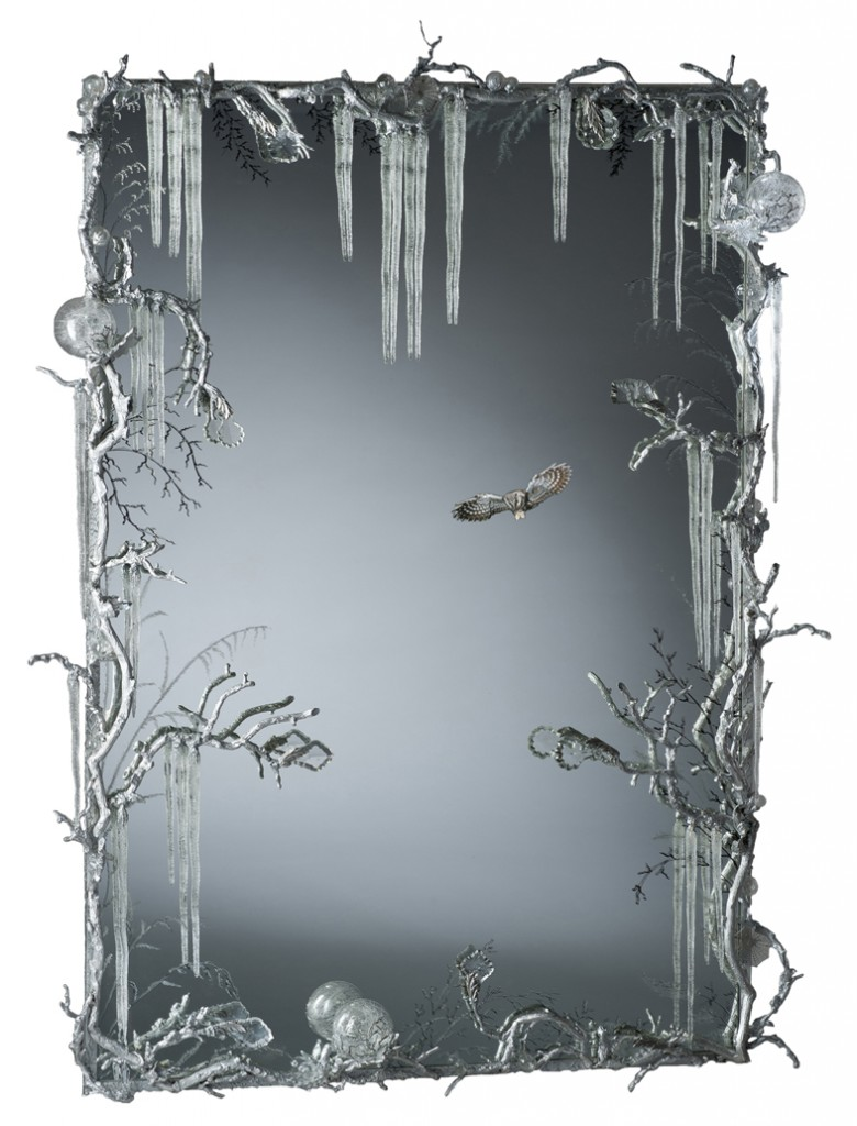 Miroir glacé, détouré chouette, Joy de Rohan Chabot