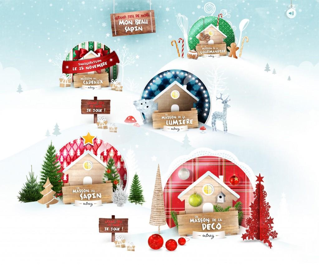 Le village de Noël de botanic