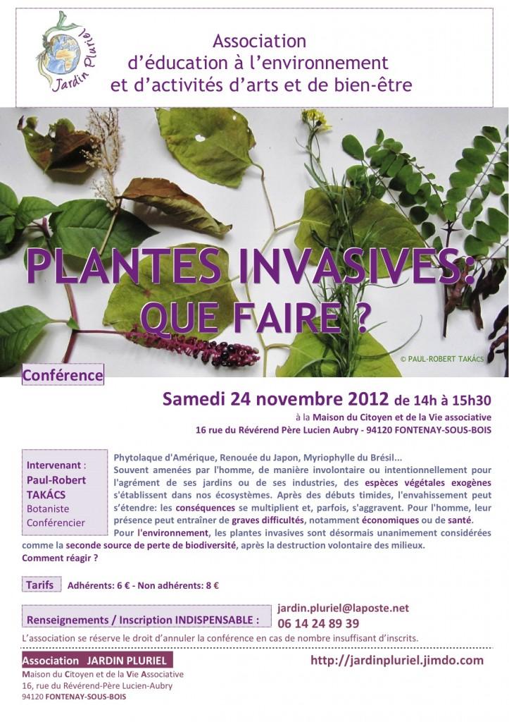 """Conférence : """"Plantes invasives, que faire ?"""""""