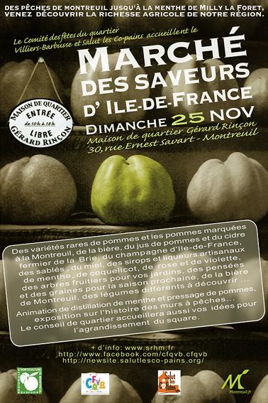 Marché des saveurs d'Île-de-France