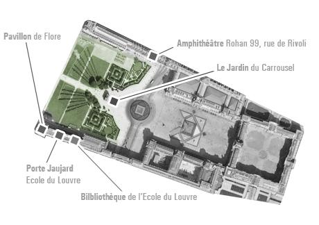 Plan du Louvre