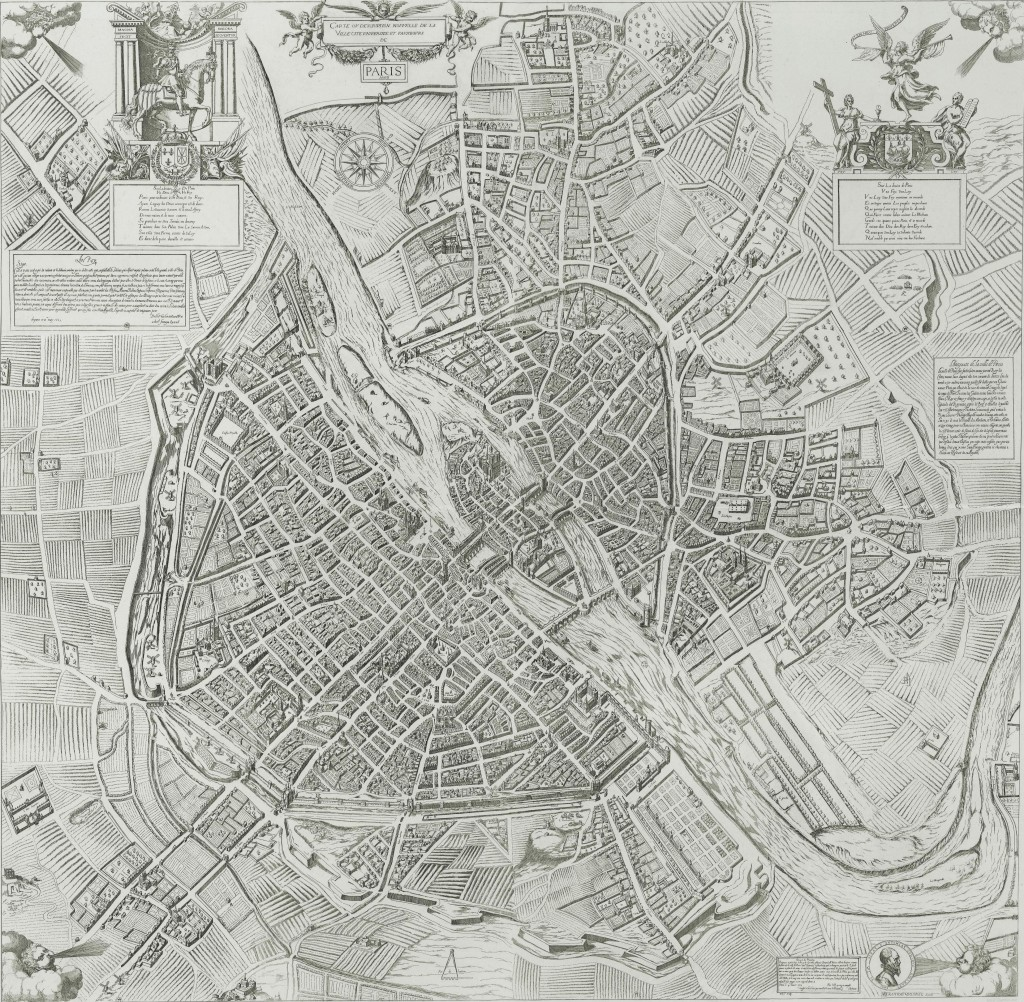 Plan de Paris en 1609 / Quesnel / Atlas historique de Paris