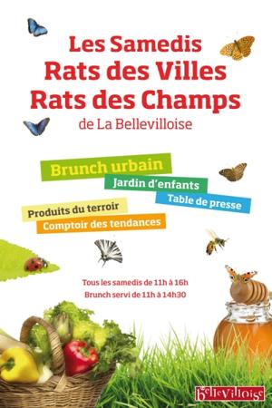 """Samedis """"Rats des villes Rats des champs"""" à la Bellevilloise"""