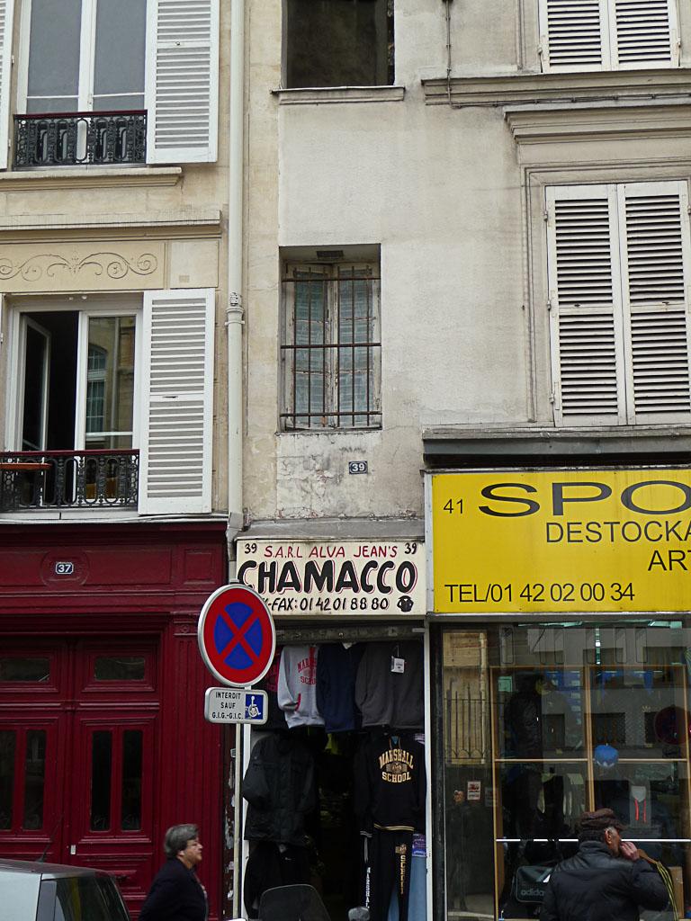 La plus petite maison de Paris, 39 rue du Château d'Eau, Paris 10e (75)