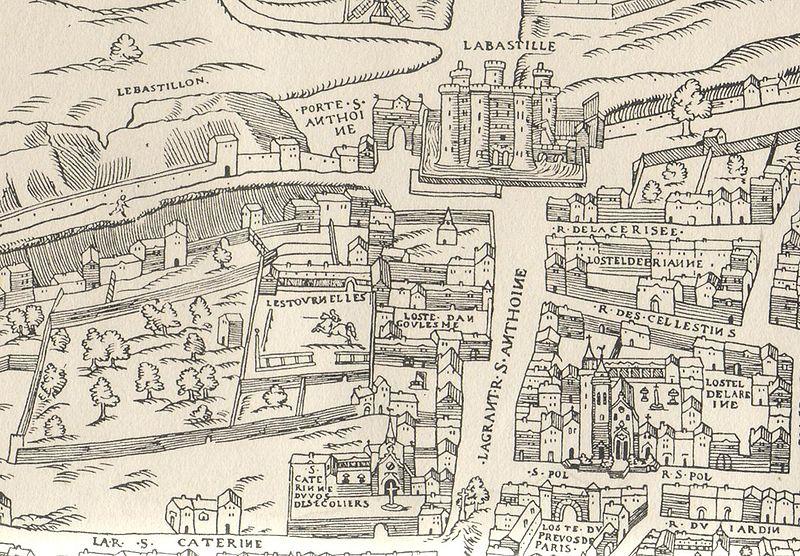 Par Licorne37 (Scan d'un plan de paris publié en 1550) via Wikimedia Commons