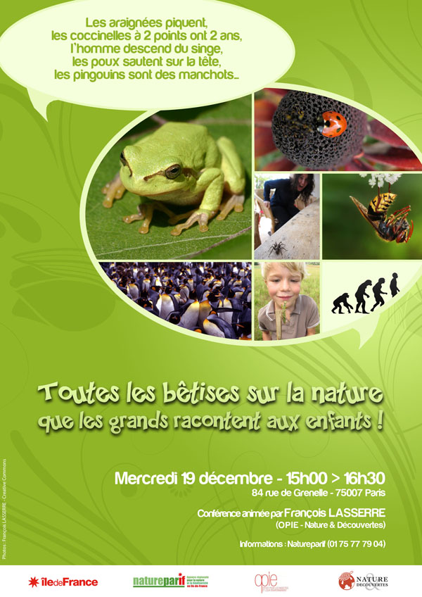 Conférence publique : Toutes les bêtises sur la nature que les grands racontent aux enfants !
