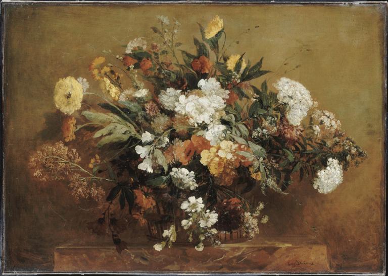 Eugène Delacroix, Corbeille de fleurs, Palais de Lille ©RMN-GP/ René-Gabriel Ojéda